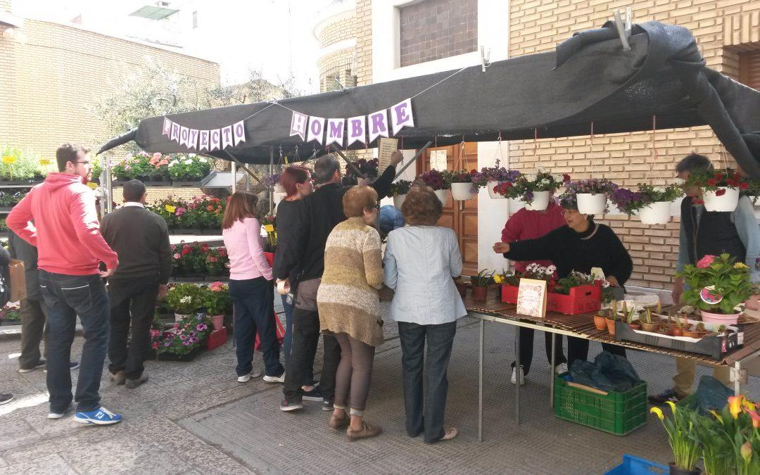 Mercadillo solidario de flores y plantas en Calahorra