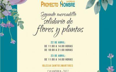 Segundo Mercadillo solidario de flores y plantas en Calahorra